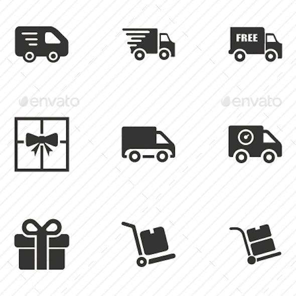 Delivery Service Icons - Gray Version