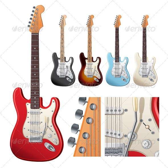 Electric Guitar - Man-made Objects Objects