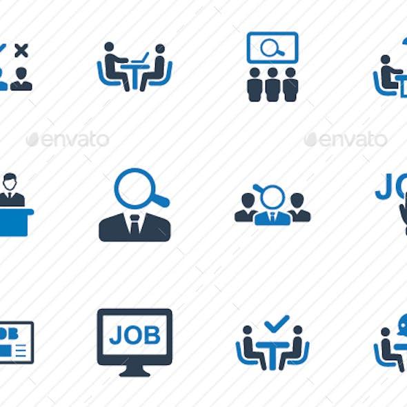 Recruitment Icons - Blue Version