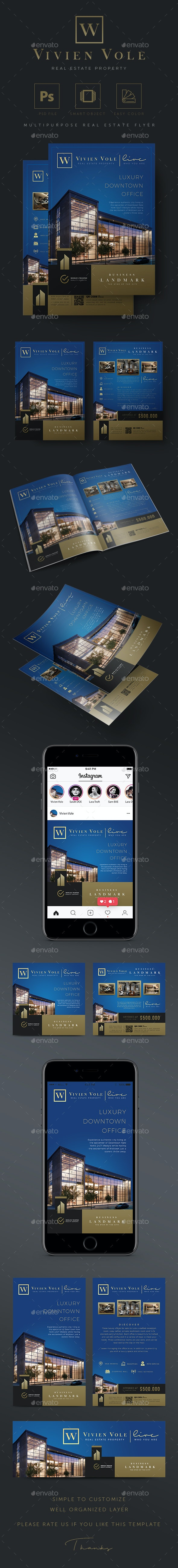 Business Landmark - Creative Real Estate Flyer - Commerce Flyers