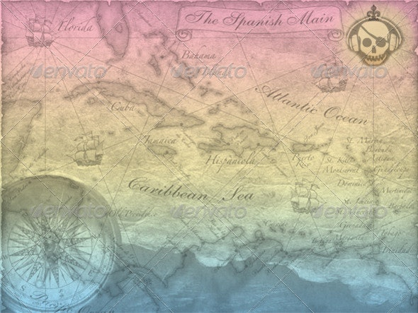 Treasure Map - Backgrounds Graphics