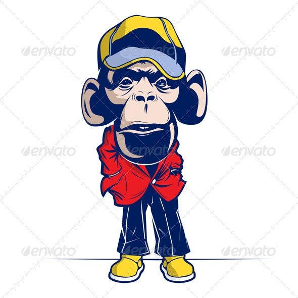 Cartoon Mascot Monkey    - Animals Characters
