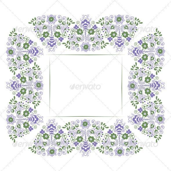 Floral Border Background - Borders Decorative