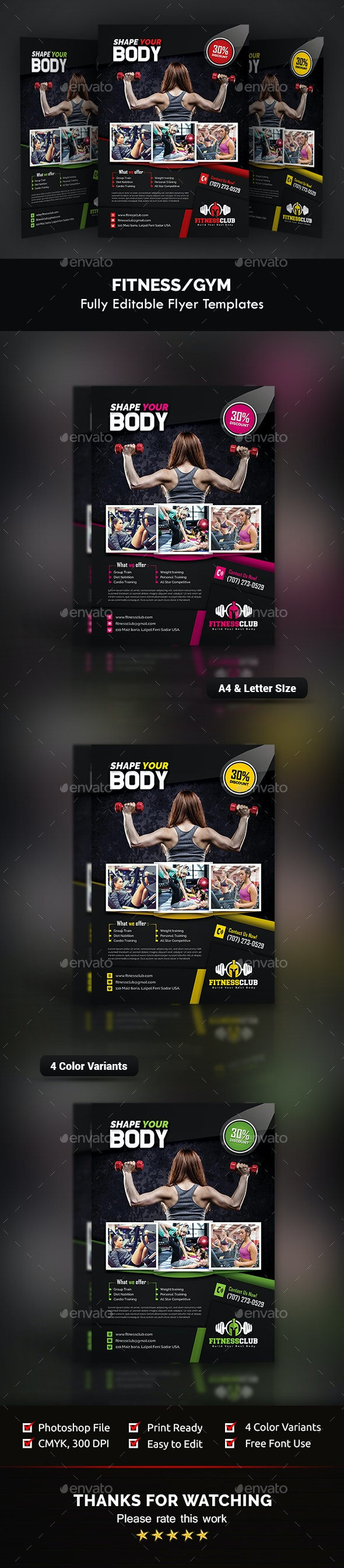 Fitness / Gym Flyer Templates - Sports Events
