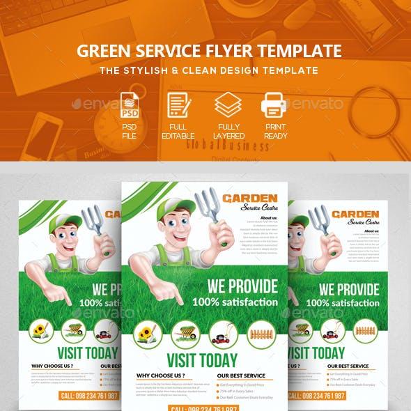Garden & Plantation Services Flyer Template