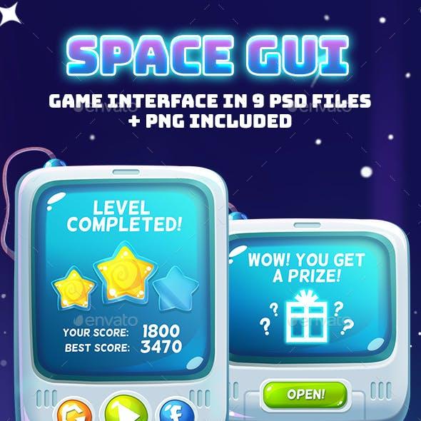 Space Cartoon GUI
