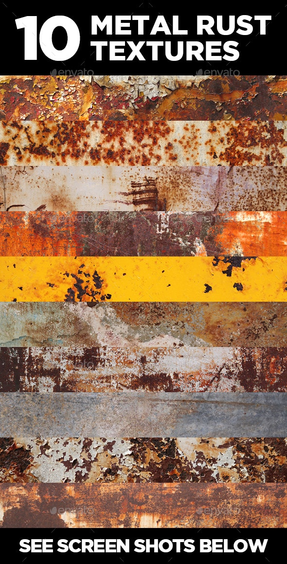 10 Rusted Metal Textures