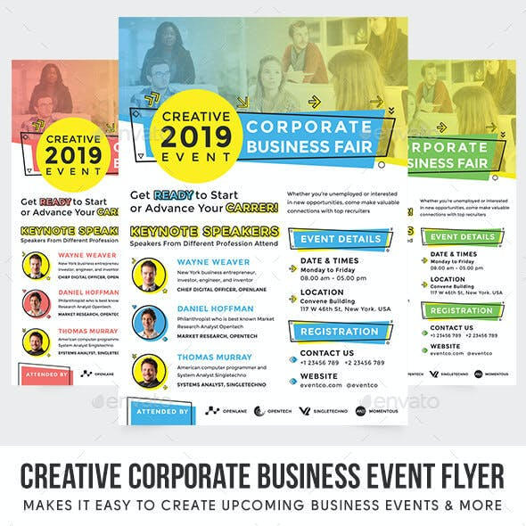 Creative Corporate Business Event Flyer