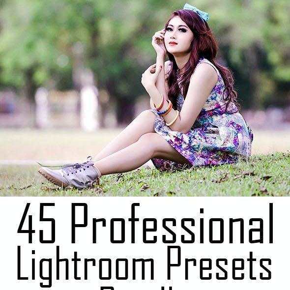 45 Professional Lightroom Presets Bundle
