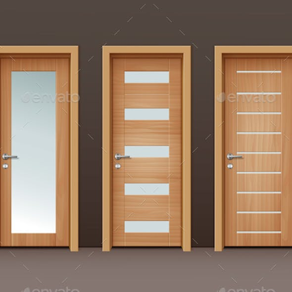 Vector Wooden Doors