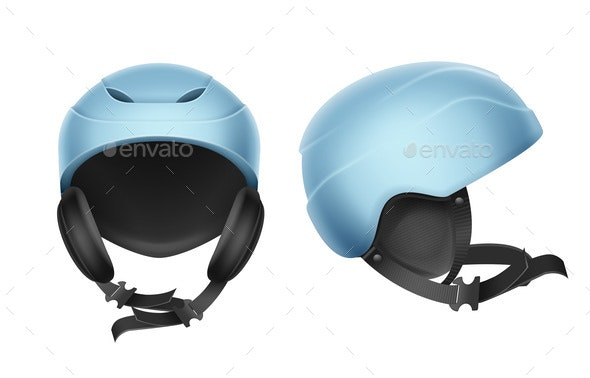 Blue Protective Helmet - Man-made Objects Objects