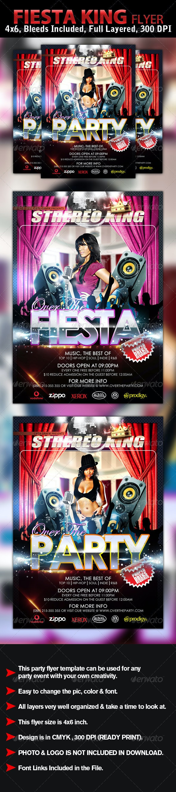 Fiesta Flyer Template - Clubs & Parties Events