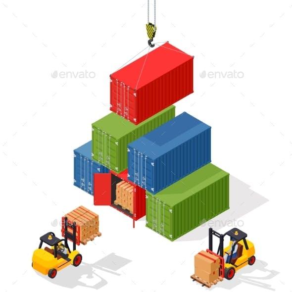 Marine Cargo Port Unloading of Sea Cargo