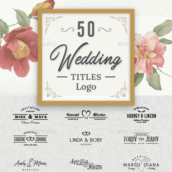 50 Wedding Titles Logo