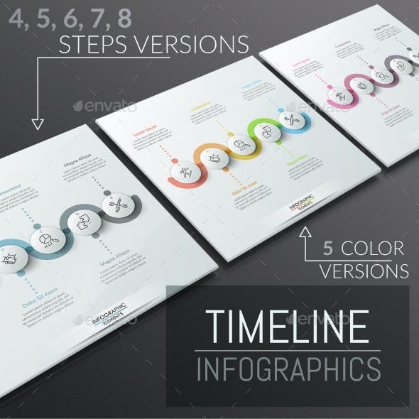Modern Infographic Timeline Templates