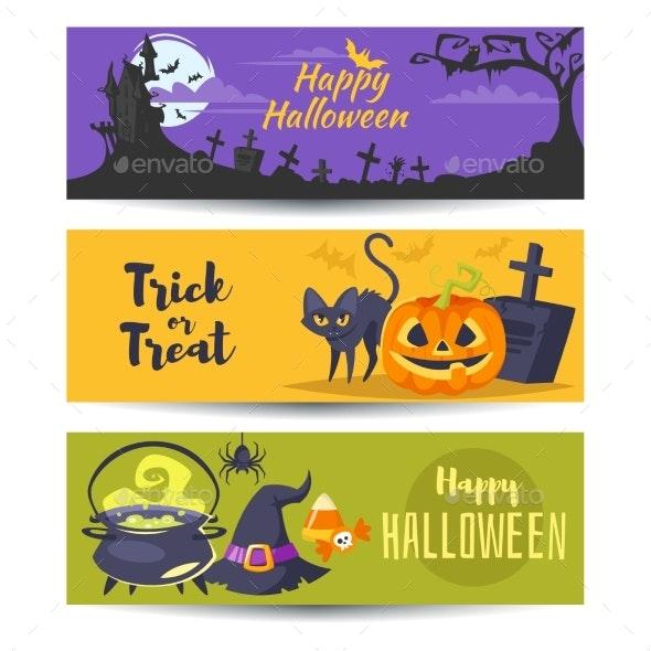 Template for Halloween Banner - Halloween Seasons/Holidays