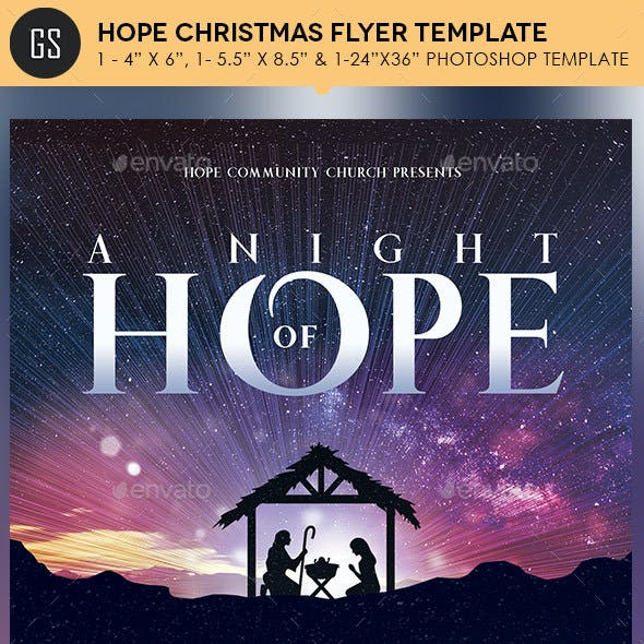 Hope Christmas Flyer Poster Template