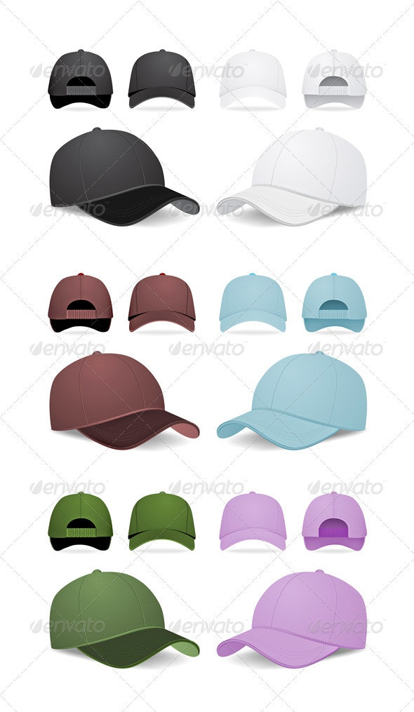 Blank Baseball Caps - Man-made Objects Objects