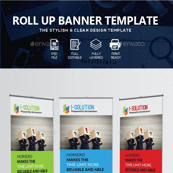 Business Identification Roll Up Banners
