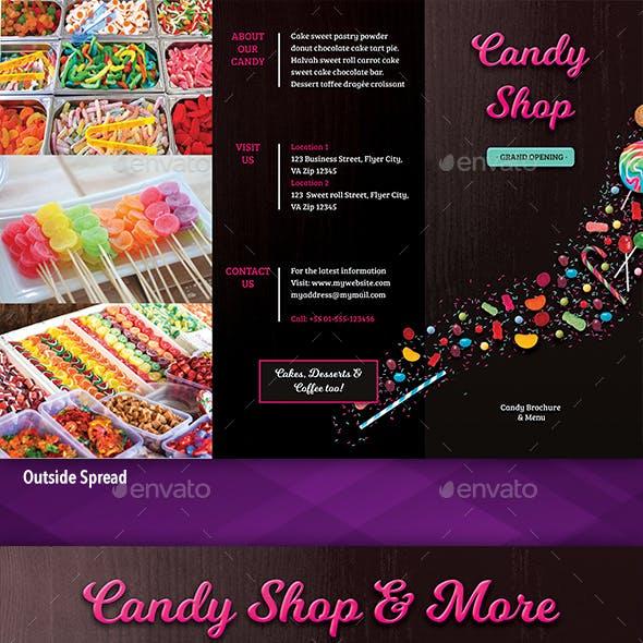 Tri-Fold Brochure: Candy Shop
