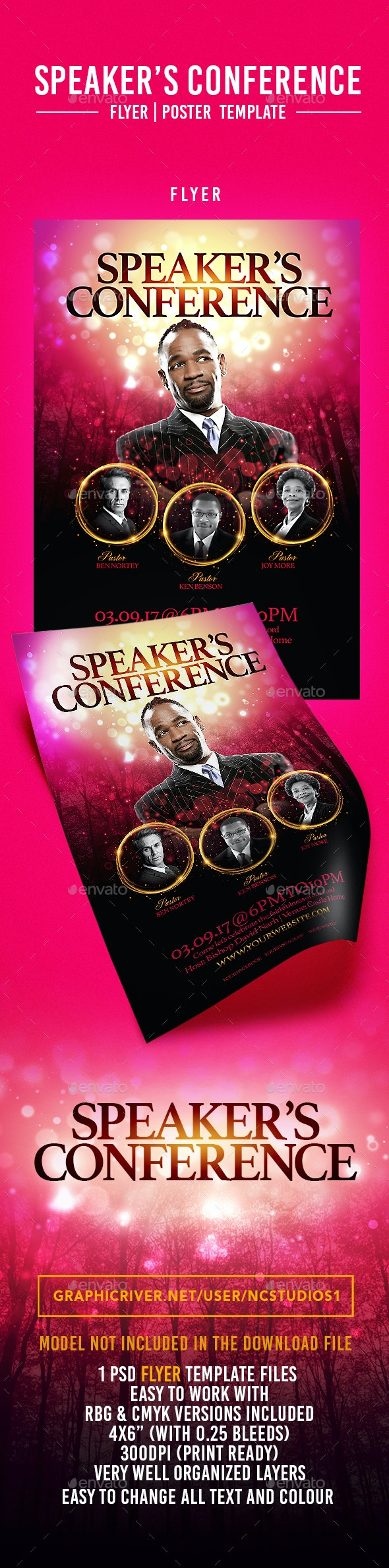 Speaker's Conference Flyer Template - Flyers Print Templates