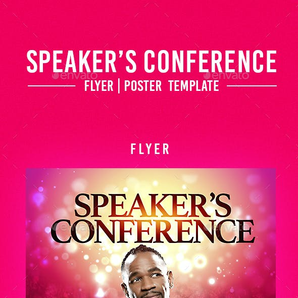 Speaker's Conference Flyer Template