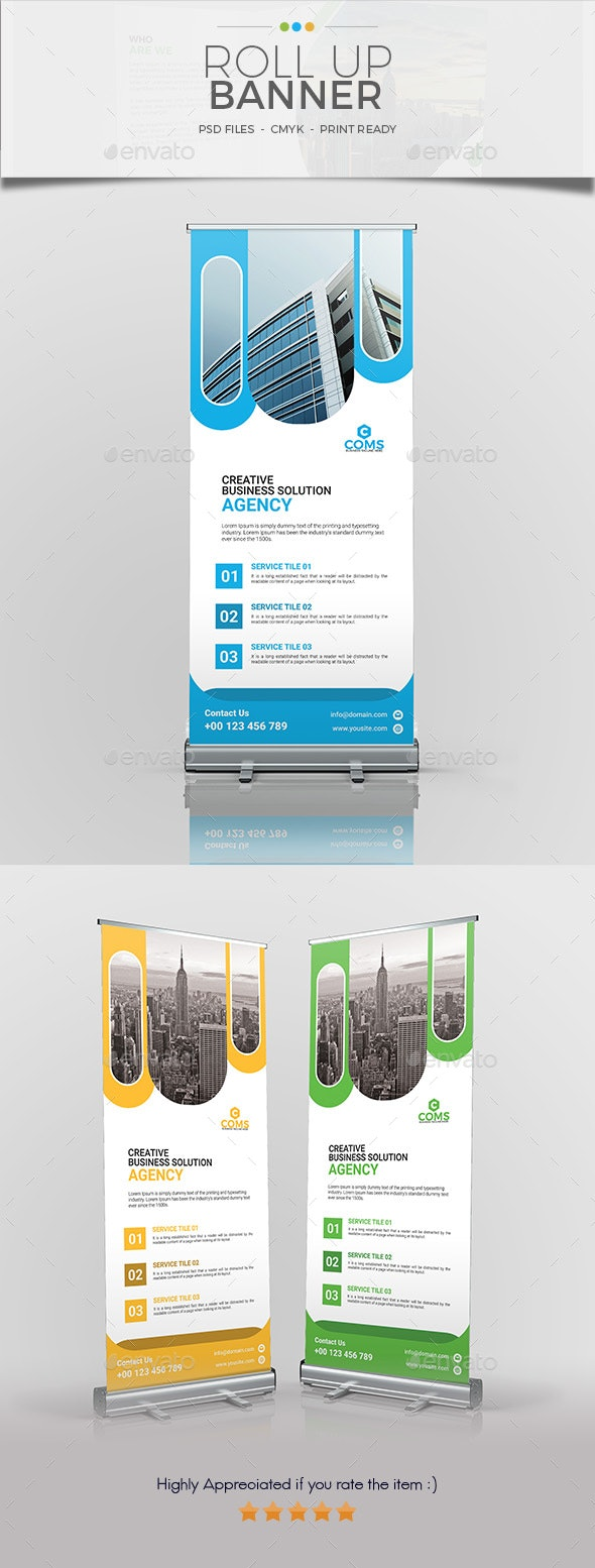 Corporate Roll Up Banner 04 Template - Signage Print Templates