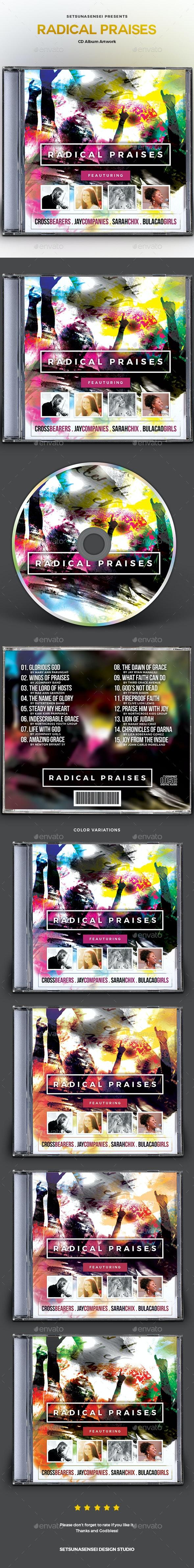 Radical Praises CD Album Artwork - CD & DVD Artwork Print Templates