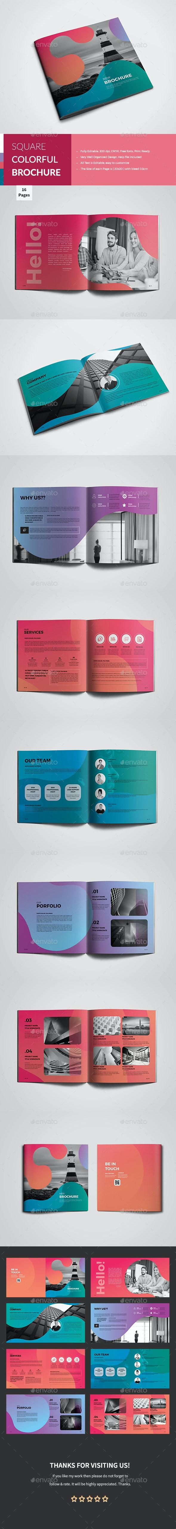 Square Colorful Corporate Brochure - Corporate Brochures
