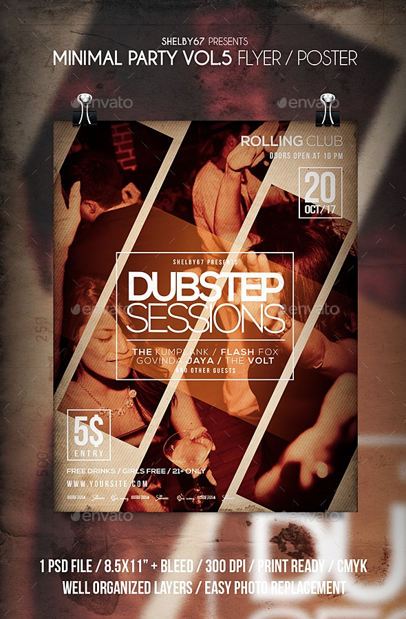 Minimal Party Flyer / Poster Vol 5 - Clubs & Parties Events