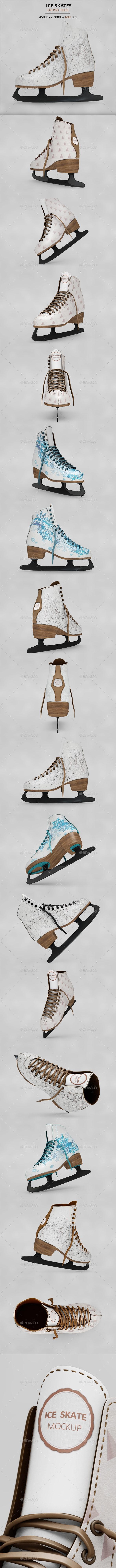 Ice Skate Mockup - Product Mock-Ups Graphics