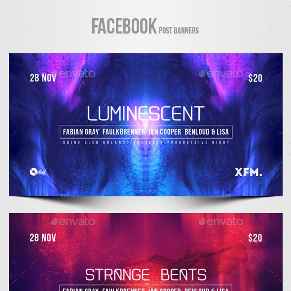 Electronic Music Party vol.34 - Facebook Post Banner Templates