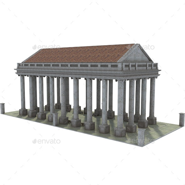Original Classic Greek Structure - Architecture 3D Renders