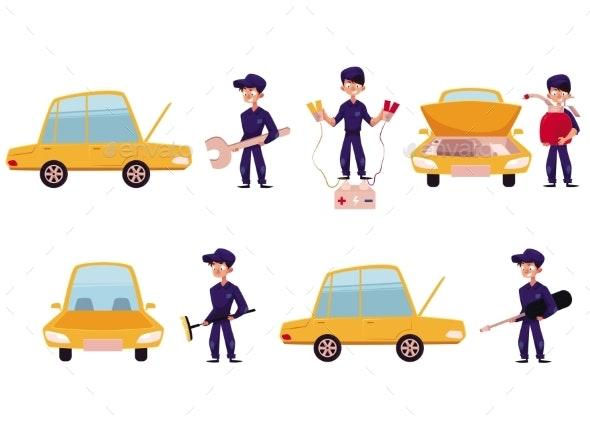 Mechanic, Car Service, Repair Maintenance Workshop - Man-made Objects Objects