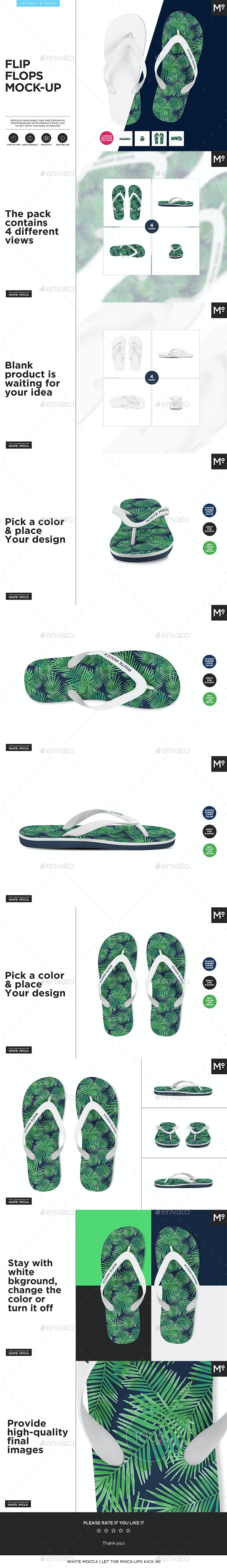 Flip Flops Mock-up - Miscellaneous Apparel