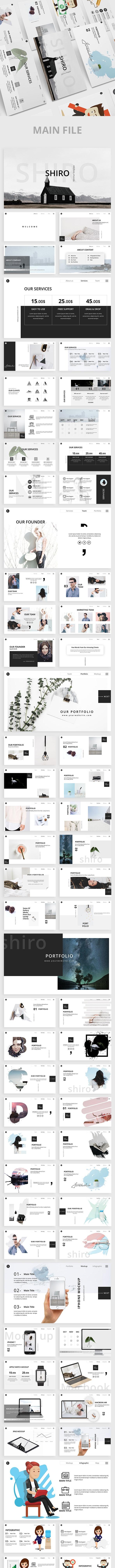 Shiro Minimal Powerpoint Template - Creative PowerPoint Templates