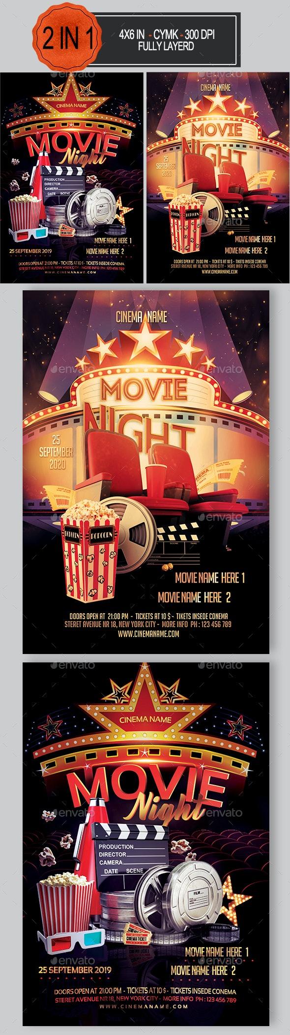 Movie Night Flyer Bundle - Events Flyers