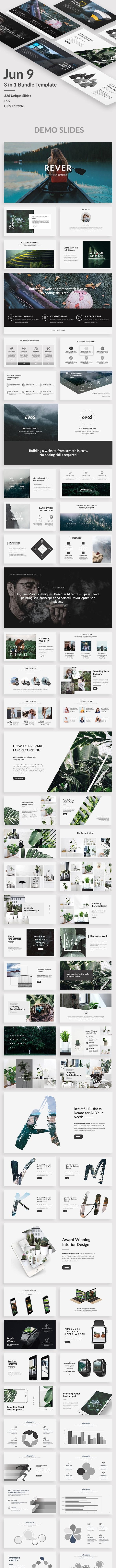 3 in 1 Creative Bundle - Jun 9 Premium Keynote Template - Creative Keynote Templates