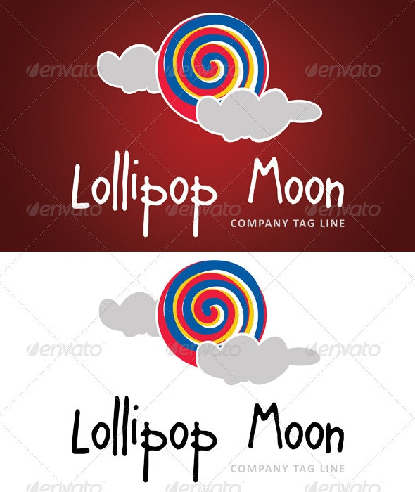 Lollipop Moon - Abstract Logo Templates