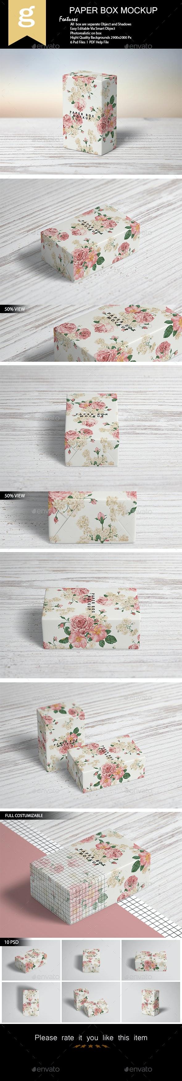 Paper Box Mock-Up - Product Mock-Ups Graphics