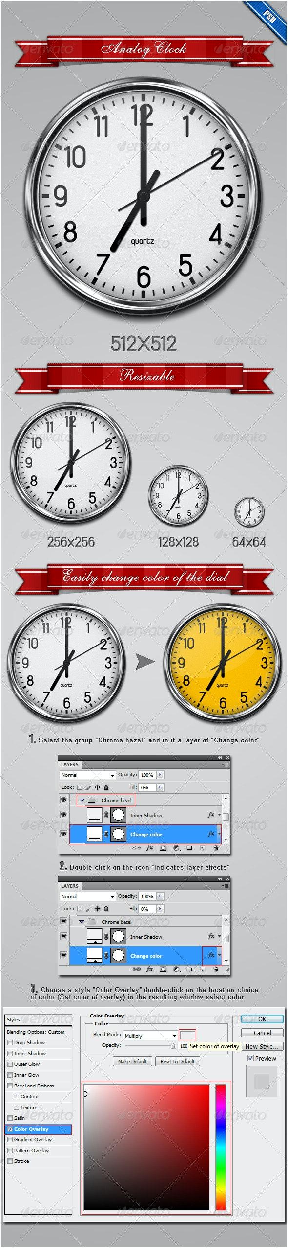 Analog Clock - Web Icons