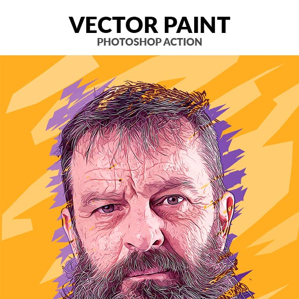 Vector Paint Photoshop Action