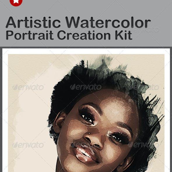 Artistic Watercolor Portrait Creation Kit
