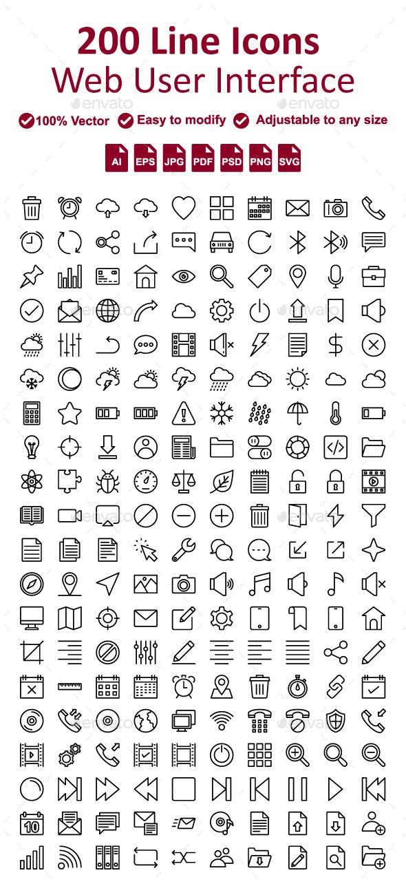 Web User Interface Line icon - Web Icons