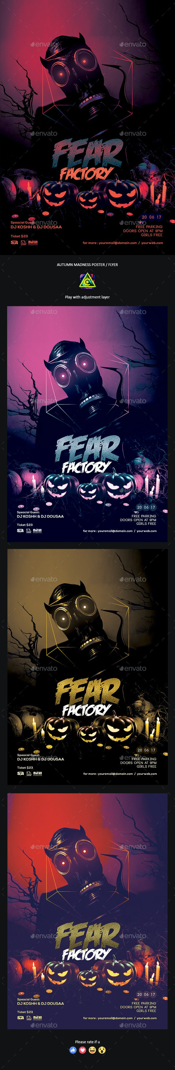 Fear Factory Poster / Flyer - Clubs & Parties Events