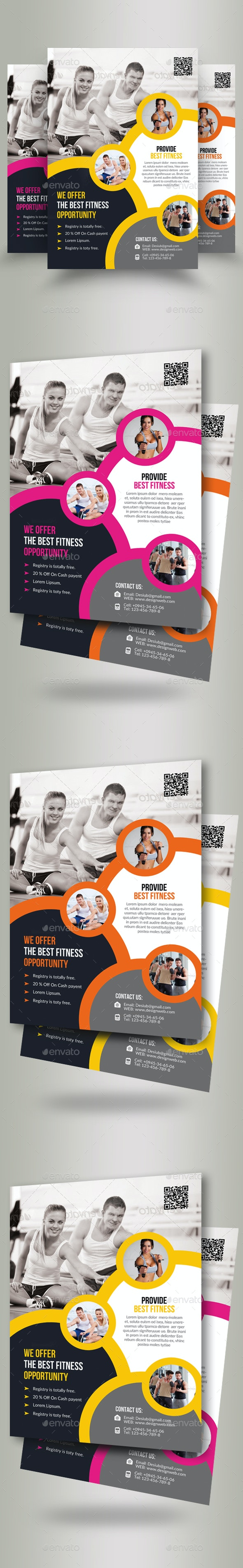 Body Fitness Gym Flyer - Sports Events