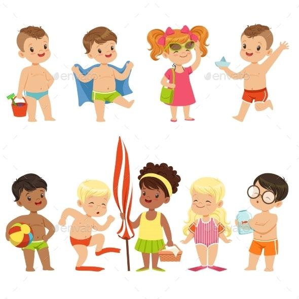 Kids On The Beach Seaside - People Characters