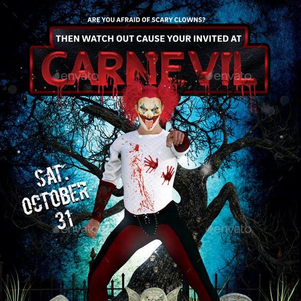 Carnevil Halloween Flyer