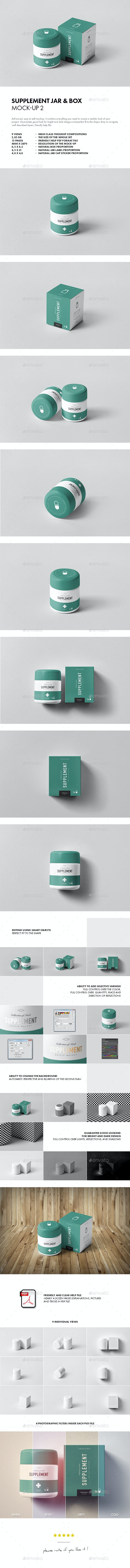 Supplement Jar & Box Mock-up 2 - Miscellaneous Packaging