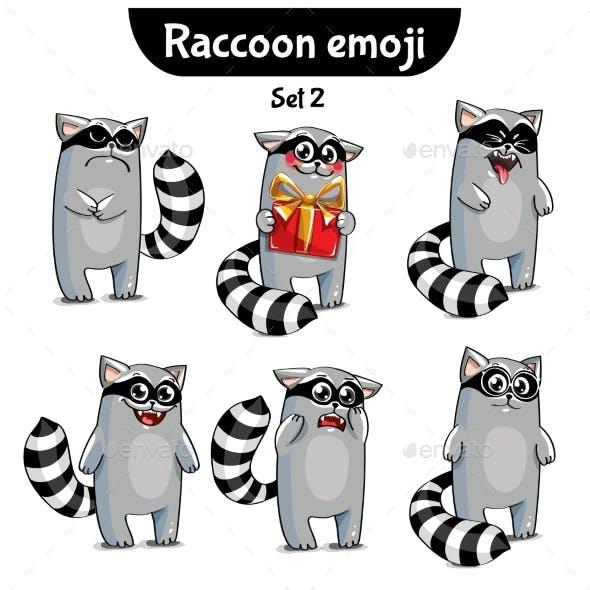 Raccoon Characters Set 2